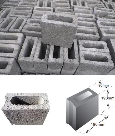 Gạch Block xây tường VIETCEM 90X190X190mm